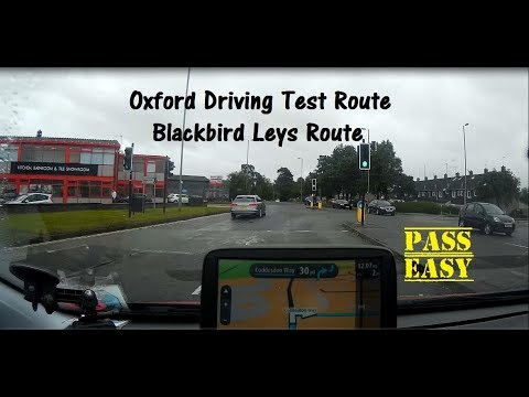 Oxford Driving Test Route 2020 - Blackbird Leys Route