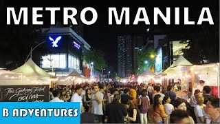 Makati & Taguig Manila, Bonifacio High Street Nightlife Food Market, Travel Philippines S2 Ep1