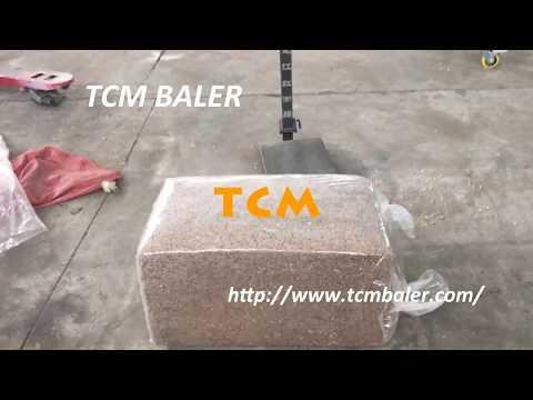 TCM-HB cotton seed hulls husks wood shavings sawdust bagging press baler