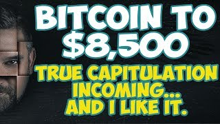 Bitcoin to $8,500 Before True Alt Coin Capitulation