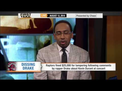 First Take - Drake's Comments Result in Raptors' Fine