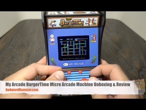 My Arcade BurgerTime Micro Arcade Machine Unboxing & Review