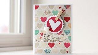 Cute Handmade Valentine | Paper Smooches | Kalyn Kepner