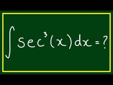 Integral of ∫sec^3(x)dx