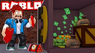 ROBBING a BANK OF 1,000,000.00 DOLLARS IN ROBLOX-Crazy Bank Heist Obby * NEW *