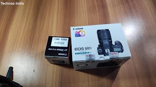 Canon EOS 80D DSLR Unboxing and Quick Review In Hindi