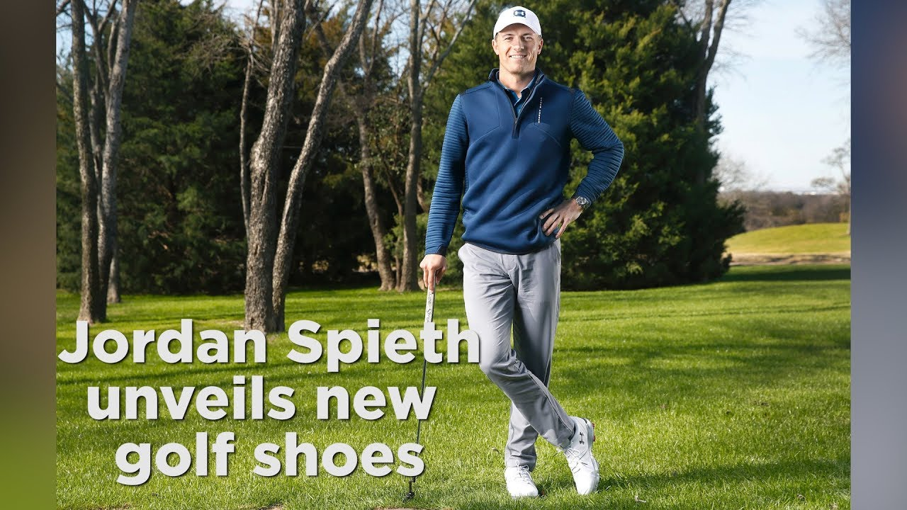 7d748a695767 Jordan Spieth talks about his new Under Armour golf shoes - YouTube