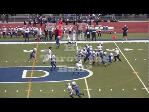 Youth Football: Monster Throw by 10 Year Old - Ryan Hicks QB9