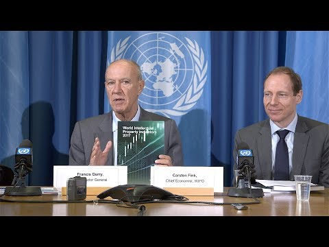Press Conference for World Intellectual Property Indicators 2017