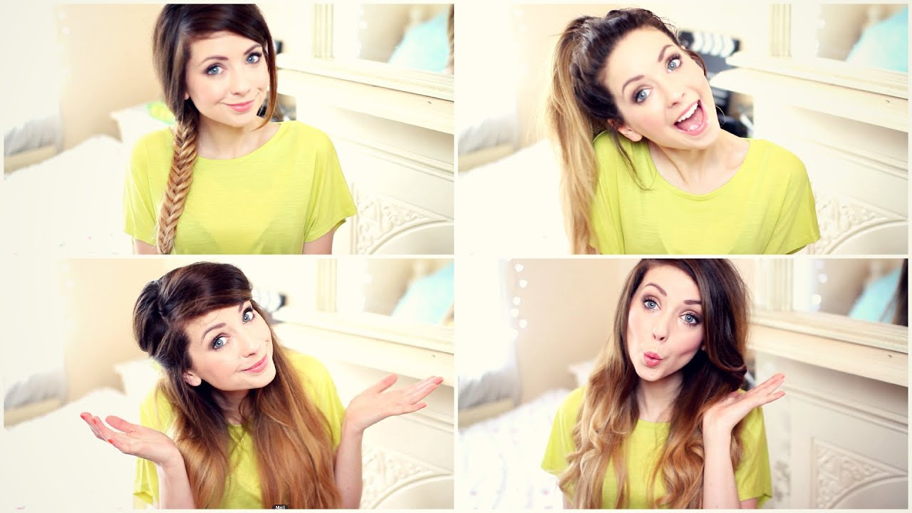 How To: My Quick and Easy Hairstyles | Zoella - YouTube