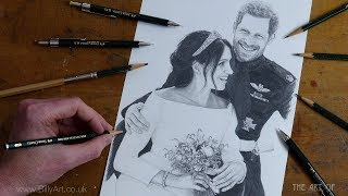 Drawing Prince Harry and Meghan Markle The Royal Wedding 2018