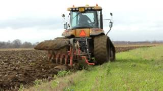 Challenger tractor ploughing in Lincolnshire