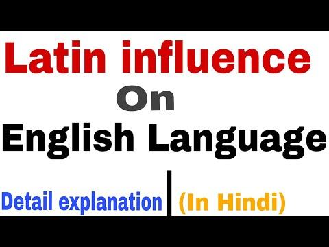 Latin Influence On English Language || Latin Borrowings || In Hindi.
