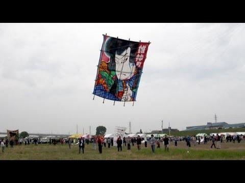 越中だいもん凧まつり 富山県射水市自慢の凧舞う148団体が参加
