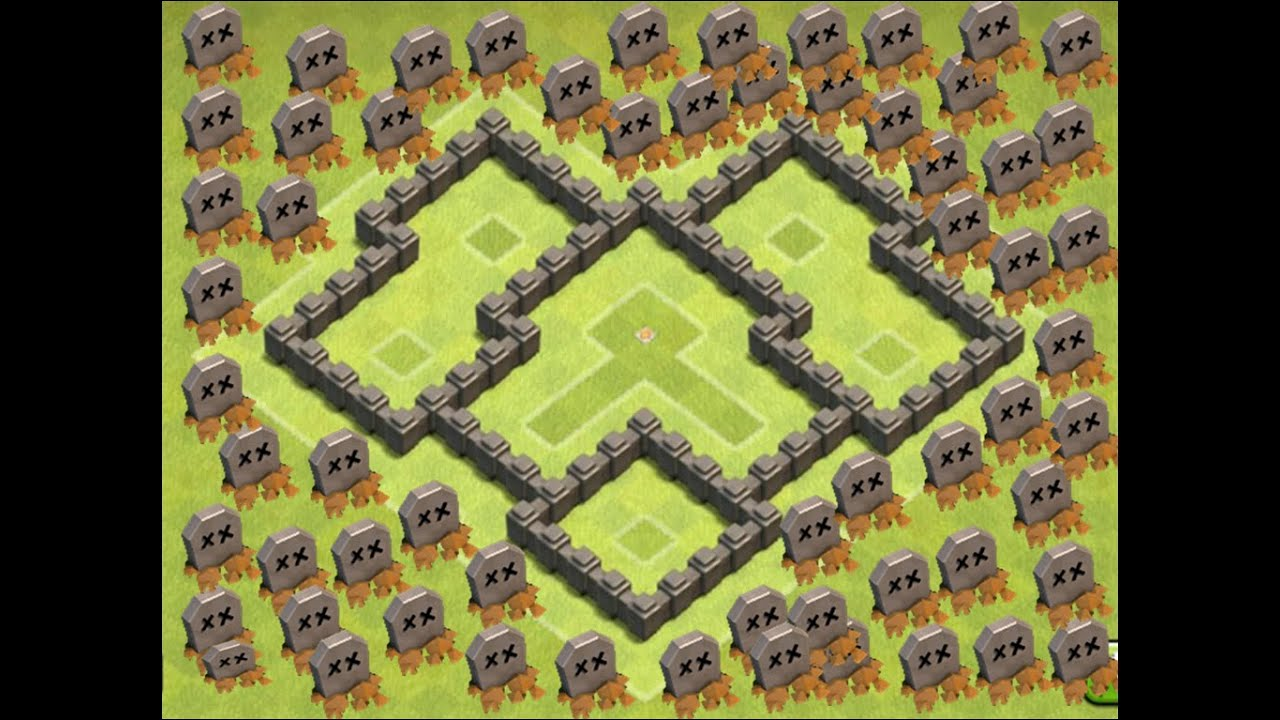 clash of clans le meilleur village d fensif hdv 4 youtube. Black Bedroom Furniture Sets. Home Design Ideas