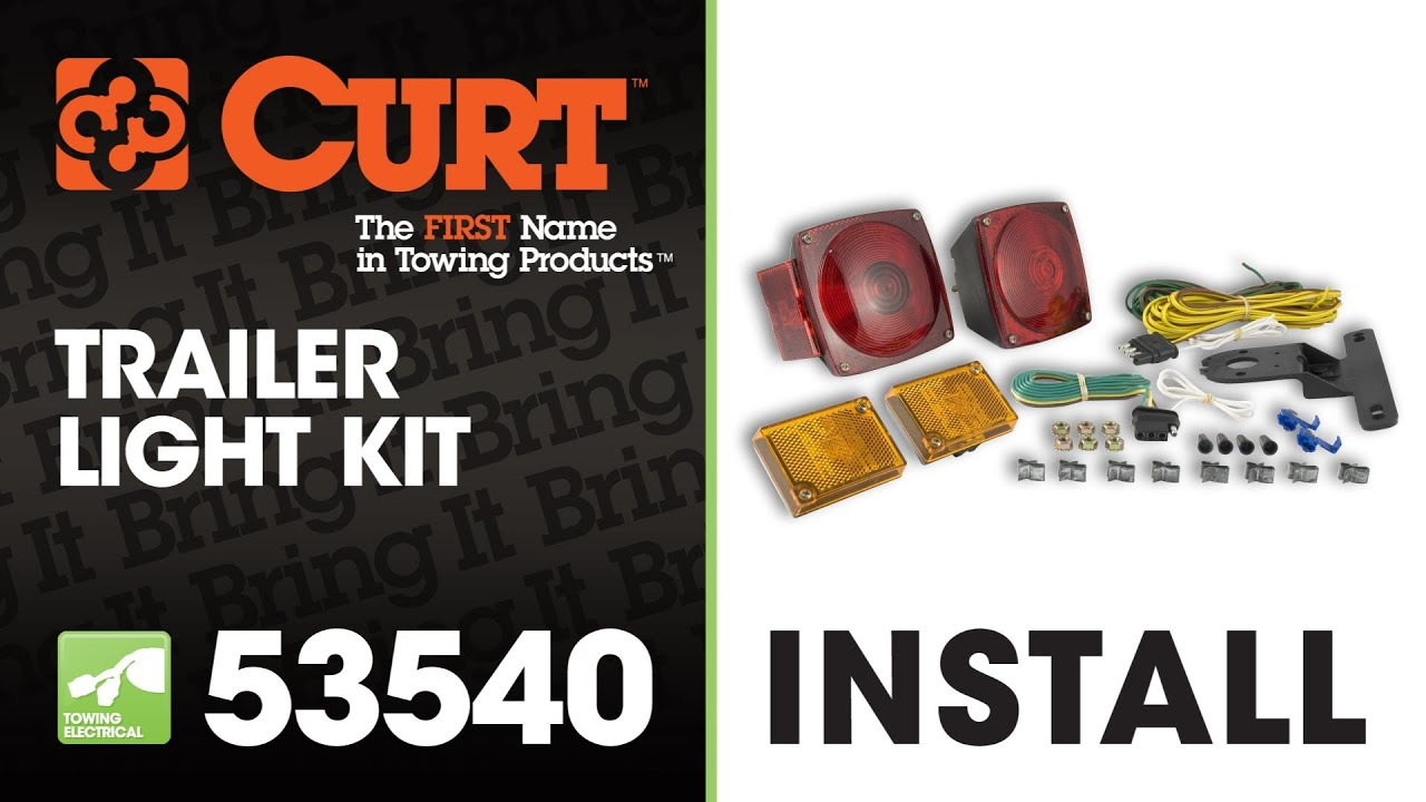 How To Rewire A Trailer With Universal Light Kit Using Curt Utility Diagram 53540