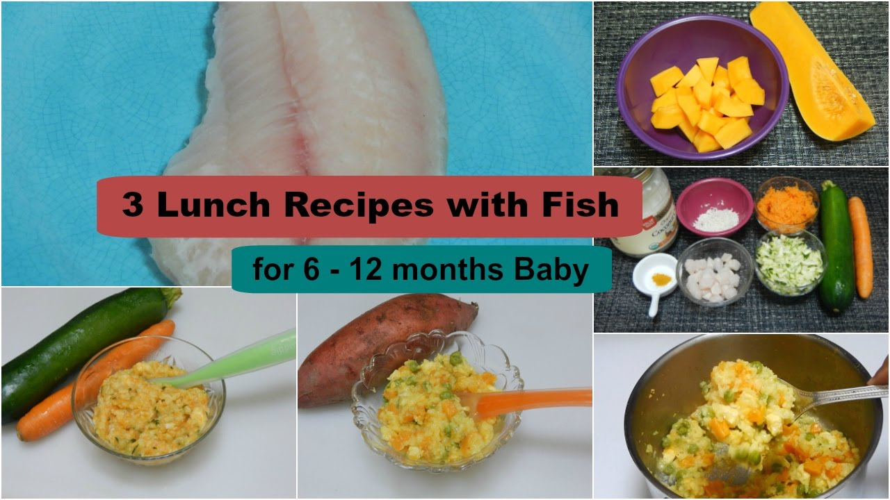 3 lunch dinner recipes with fish for 6 12 months baby l - Cuisine r evolution recipes ...