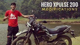 MODIFICATIONS on my Hero Xpulse 200 * Touring Mods *