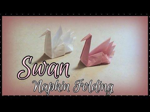 Easy Origami Napkin Swan Tutorial - Paper Kawaii | 360x480