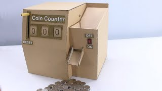 Fastest Cardboard Coin Counter | Awesome  DIY Craft