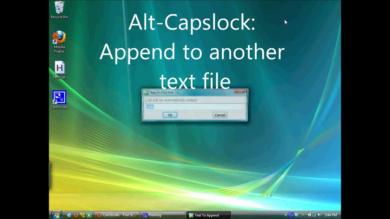 Autohotkey Script Demo: Quick Log Files