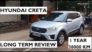 Hyundai Creta Long Term Review Base E Plus Variant After 1 year and 38000 KM