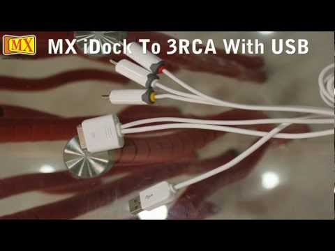 How to Connect iPad iPhone iPod to TV using Composite Audio Video 3 RCA Cable