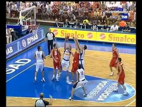 Spain vs Serbia & Montenegro 2005 Eurobasket Group Round FULL GAME Spanish