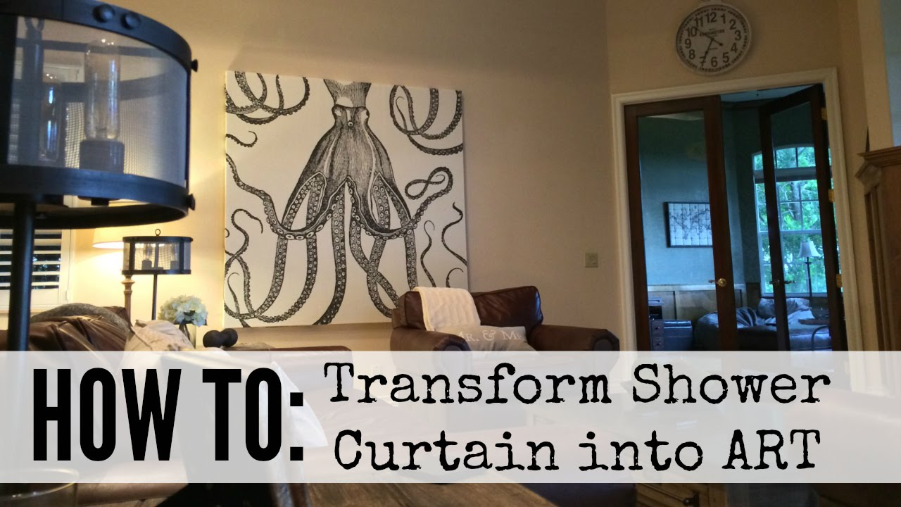 How To Create Shower Curtain Art