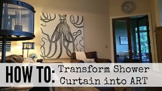 How To Create Shower Curtain Art Youtube