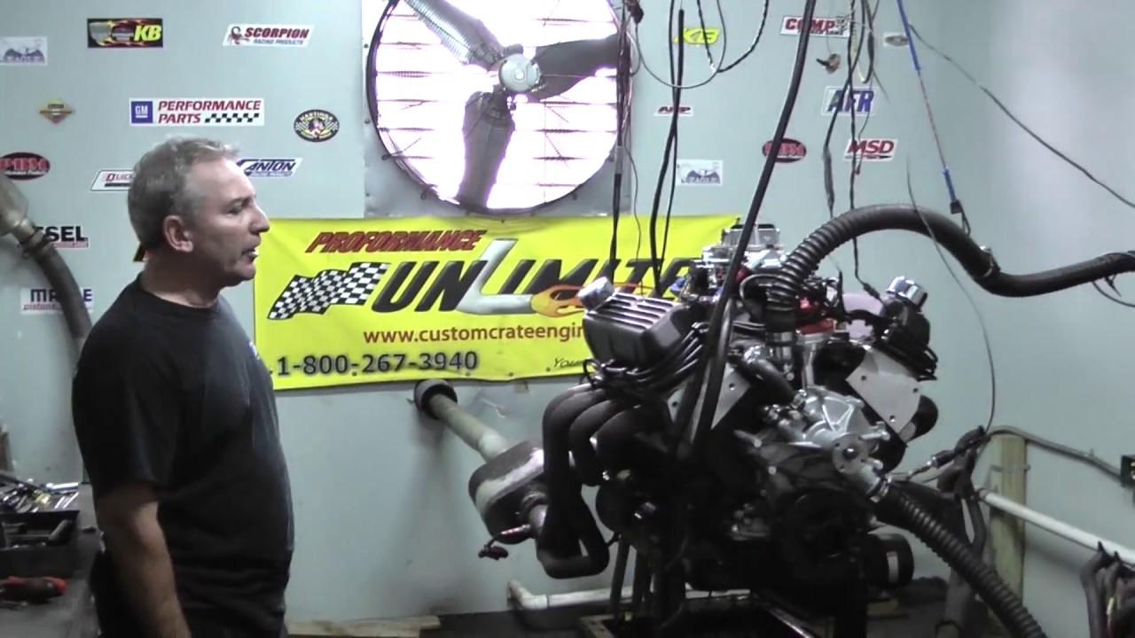 408CI 351W Based Stroker Crate Engine Dyno Test