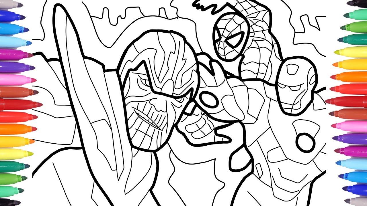 Thanos vs Iron man and Spiderman