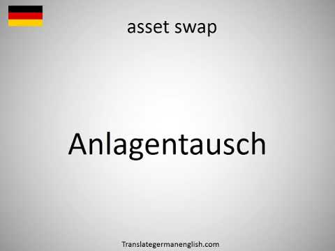 How to say asset swap in German?