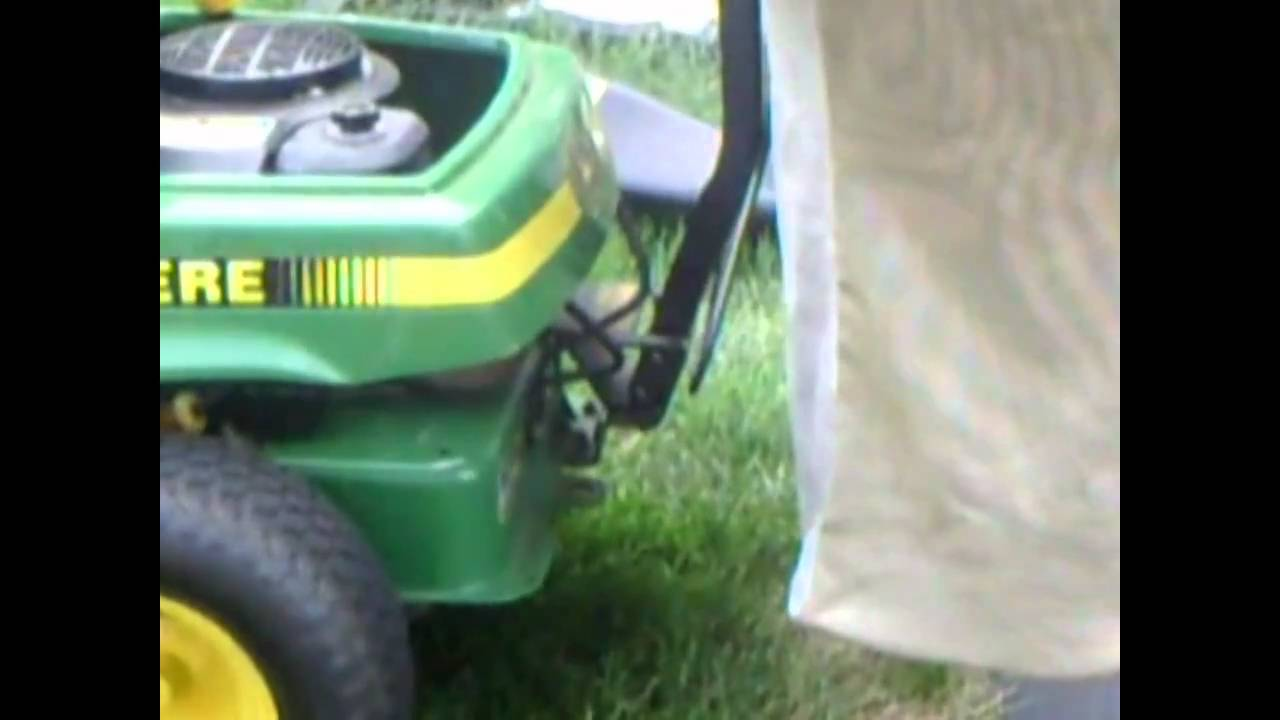 hight resolution of how to install a bagger on your john deere srx75 or other rear