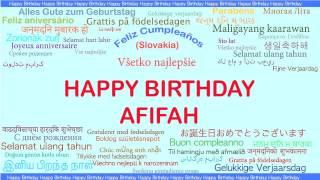 Afifah   Languages Idiomas - Happy Birthday