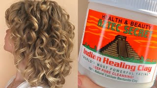 BENTONITE CLAY HAIR MASK   HAIR DETOX   Waves \ Loose Curls