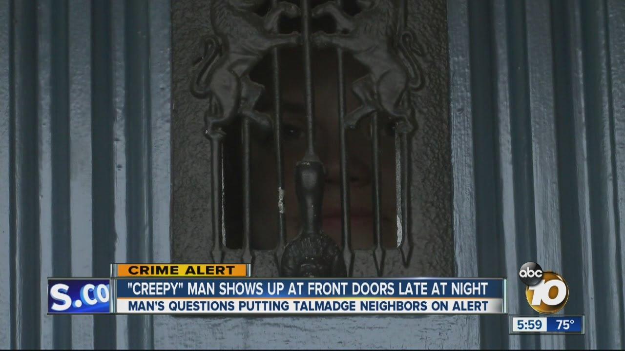 Creepy Man Shows Up At Front Doors Late At Night Youtube