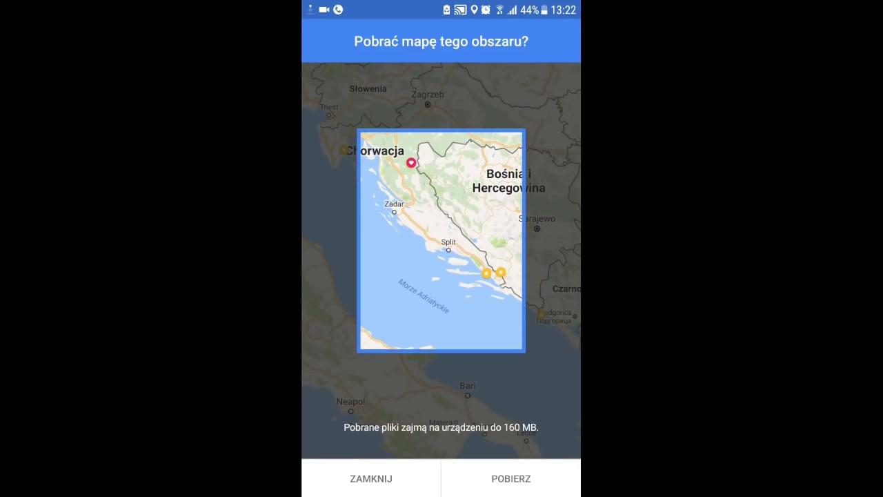 Darmowa Nawigacja GPS Offline na Smartfona lub Tableta Android Google Mapy