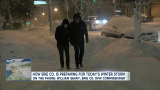 How Erie County is preparing for today's winter storm