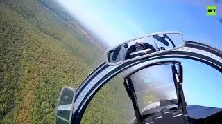 На сверхзвуковой скорости и предельно низкой высоте видео полётов Су-27 и Су-30 над горами Кавказа