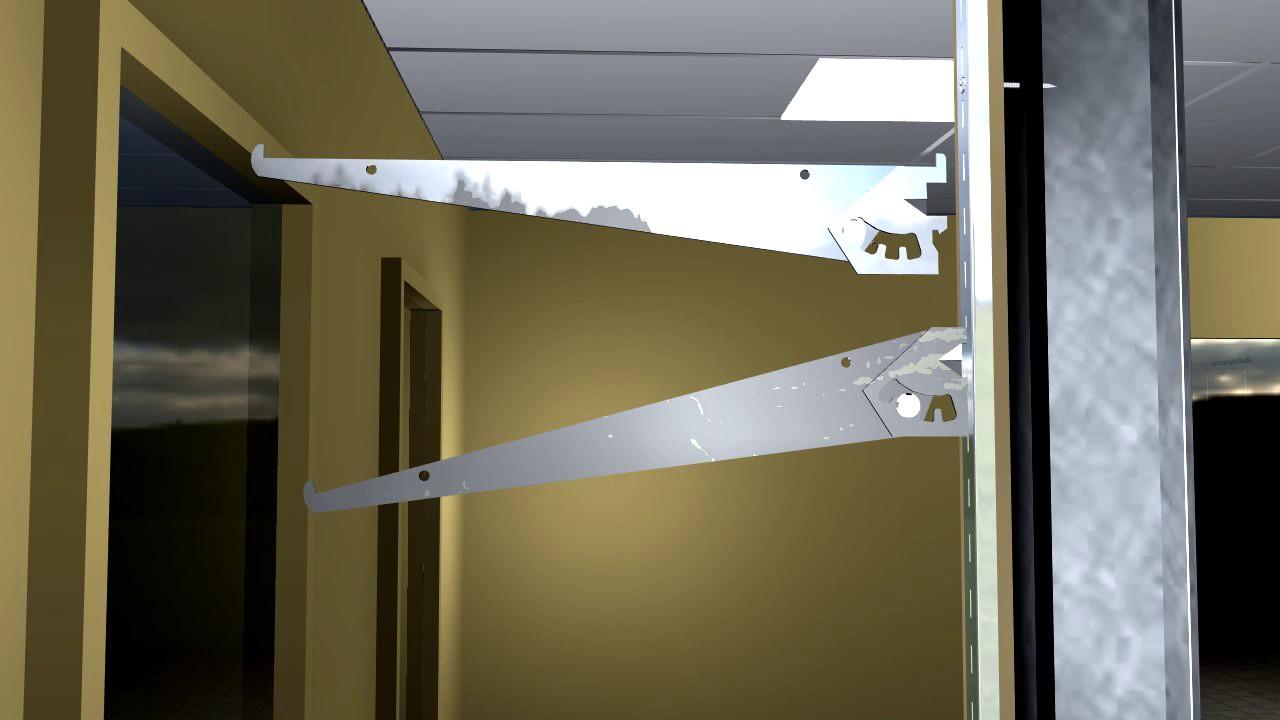 Heavy duty adjustable shelf brackets - 12 Inch Adjustable Shelf Brackets For Medium Duty Wall Standards