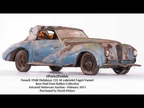Baillon Barn Find Restored by David Disiere for Pebble Beach Concours d'Elegance