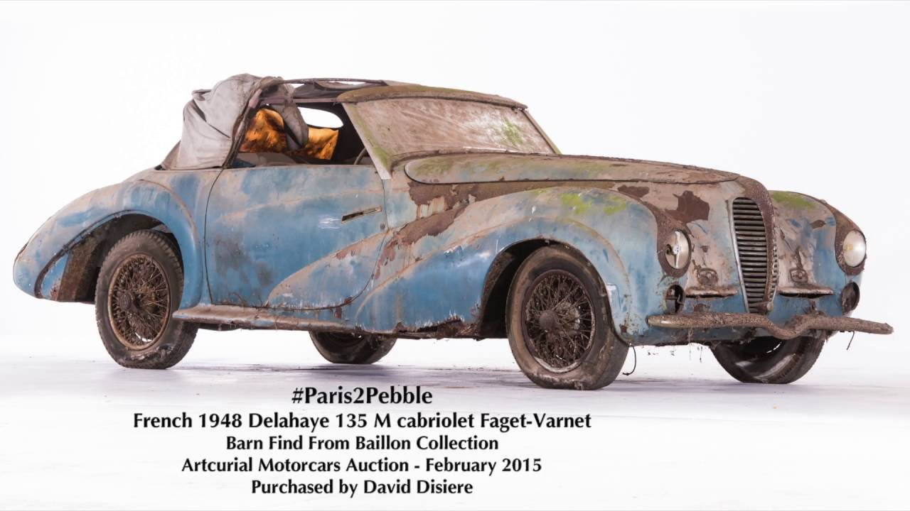 Baillon Barn Find Restored By David Disiere For Pebble Beach Concours DElegance