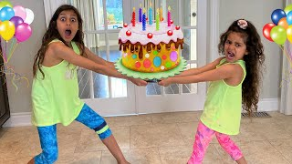 Deema and Sally  prepared a happy birthday cake for Heidi