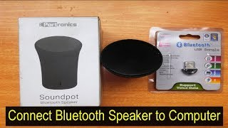 Bluetooth USB Dongle | Connect Bluetooth Speaker to Windows 7 PC