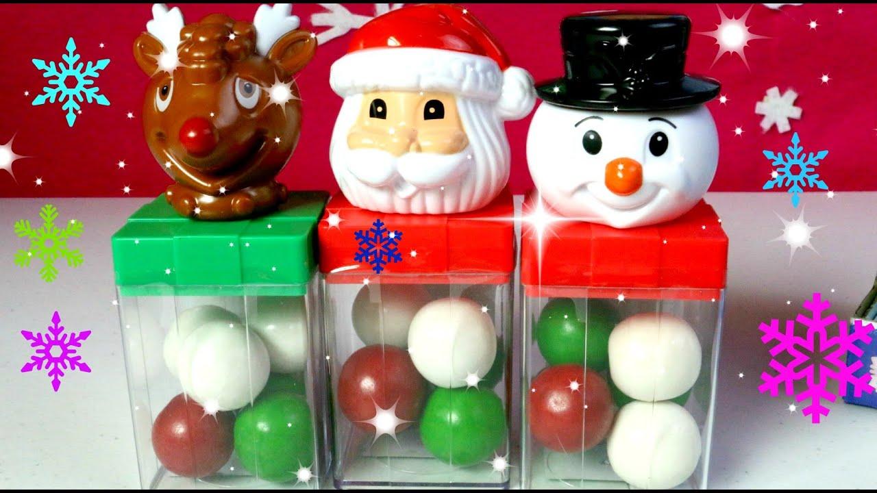 Santa clous snowman and rudolph frozen snow globe - Sorpresas para navidad ...
