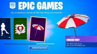 "Earn the FREE ""IT 2"" ITEMS in Fortnite *PENNYWISE SKIN SET* (New Fortnite X IT Chapter 2 Challenges)"