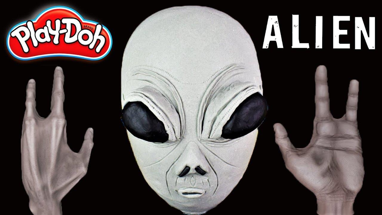 Huevo Sorpresa Gigante de ALIENIGENA Extraterrestre Marciano de Plastilina Play doh en Español