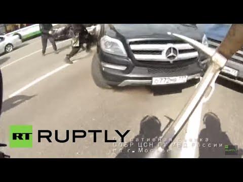 Russia: See intense high-speed police chase through Moscow's centre