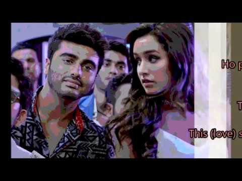 Baarish Lyrics with English Translation   Half Girlfriend (2017)   Ash King & Shashaa Tirupati